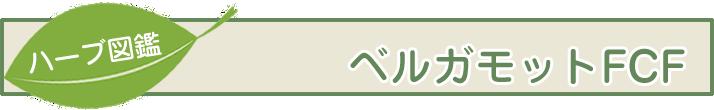 【ハーブ図鑑】ベルガモットFCF